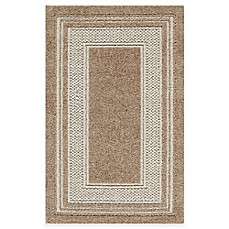 Double Border Rug in Toast