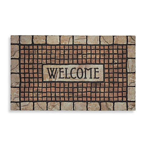 Mosaic Terracotta Rubber Door Mat