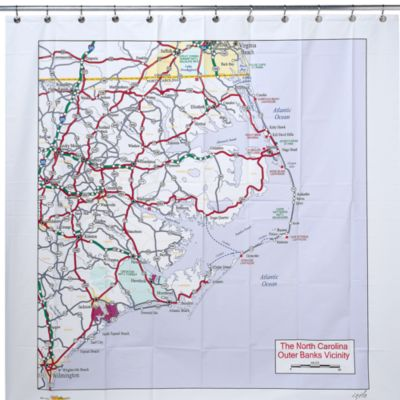 The North Carolina Outer Banks Vicinity PEVA 72-Inch x 72-Inch Shower Curtain