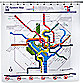 Washington DC Transit Map PEVA 72-Inch x 72-Inch Shower Curtain