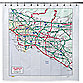 Los Angeles Map PEVA 72-Inch x 72-Inch Shower Curtain