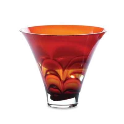 "Evolution by Waterford® Red and Amber 10"" Crystal Bowl"