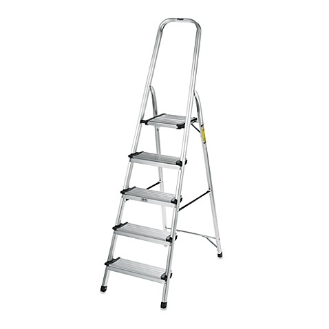 Polder® 5-Step Ultra Light Step Ladder in Aluminum