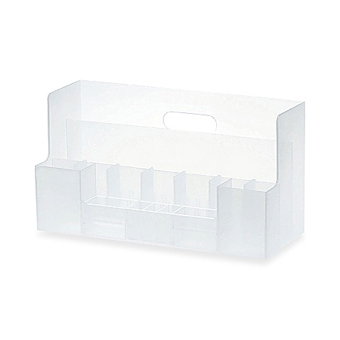 Like it plastic desk organizer white bed bath beyond - Desk organizer white ...