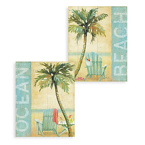 Ocean Beach Wall Art (Set of 2)