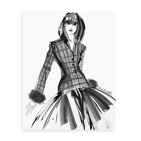 B & W Vogue Plaid Jacket Wall Art