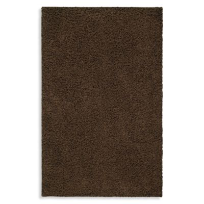 Shaw Affinity Collection Shag Rectangle Rugs in Cocoa