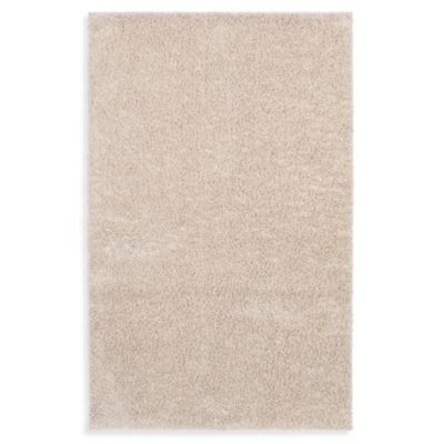 Shaw Affinity Collection Shag Rectangle Rugs in Ivory