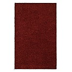 Shaw Affinity Collection Shag Rectangle Rugs in Ruby