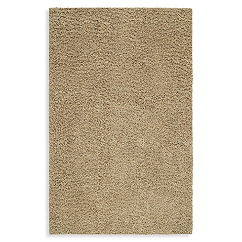 Shaw Affinity Collection Shag 5-Foot x 8-Foot Rug in Sand