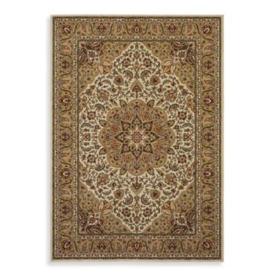 Shaw Inspired Collection Antique Manor 2-Foot 6-Inch x 7-Foot 10-Inch Runner in Beige