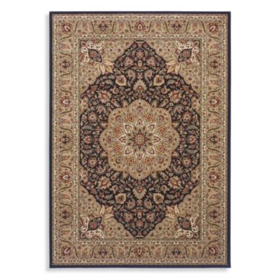 Shaw Inspired Collection Antique Manor Rugs in Black