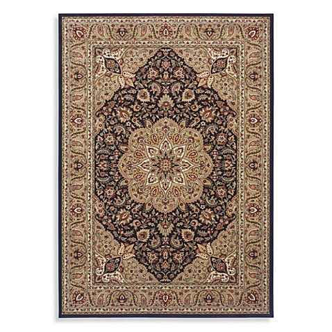 Shaw Inspired Collection Antique Manor 2-Foot 6-Inch x 7-Foot 10-Inch Runner in Black