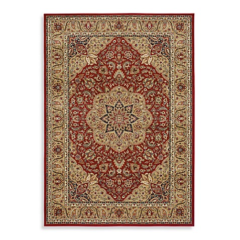 Shaw inspired collection antique manor rugs in red bed - Shaw rugs discontinued ...