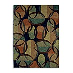 Shaw ModernWorks Collection Aura Rectangle Rugs in Dark Multicolor