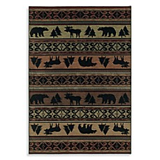 Shaw Timber Creek by Phillip Crowe Canyon Trail Rugs in Dark Multi