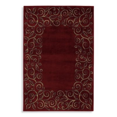 Shaw Accents Collection Chateau Rugs in Garnet