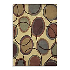 Shaw Transitions Collection Cosmic Rectangle Rugs in Beige