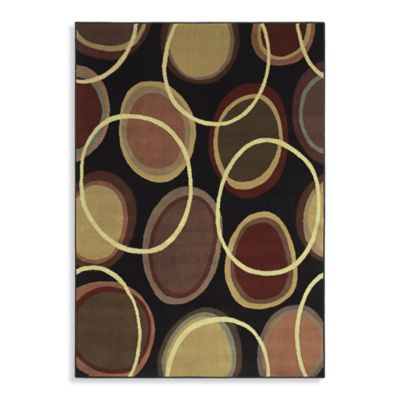 Shaw Transitions Collection Cosmic Rectangle Rugs in Onyx