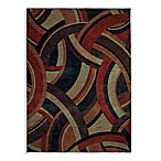 Shaw Modernworks Collection Deco Rectangle Rugs in Red