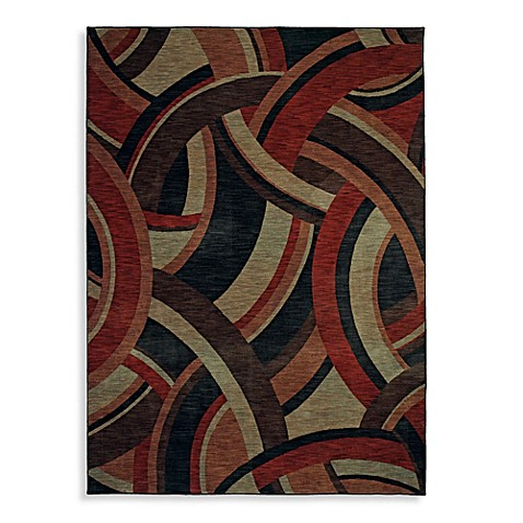 Shaw Modernworks Collection Deco 5-Foot 5-Inch x 7-Foot 9-Inch Rug in Red