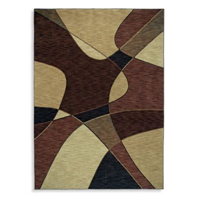 Shaw Modernworks Collection Fusion Rectangle Rugs in Dark Brown