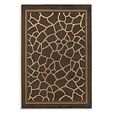 Shaw Concepts Collection Giraffe Rugs in Brown
