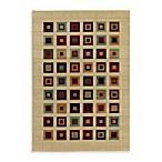 Shaw Impressions Collection Grid Block Multicolor Rectangle Rugs