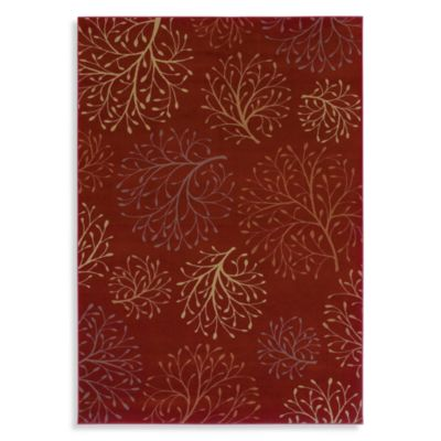 Shaw Inspired Design Collection Isabella Rectangle Rugs in Red