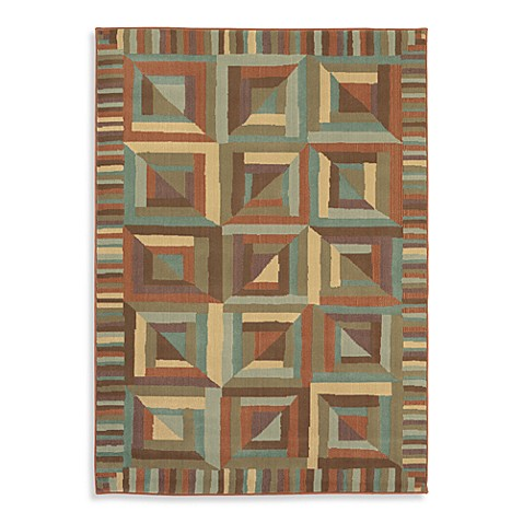 Shaw Reverie Collection 2-Foot 2-Inch x 7-Foot 8-Inch Kaleidoscope Runner in Auburn