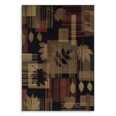 Shaw Accents Collection Linville Rectangle Rugs in Ebony