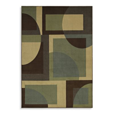Shaw Transitions Collection Lola Rectangle Rugs in Espresso