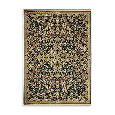 Shaw Antiquities Collection Mille Fleur 1-Foot 11-Inch X 3-Foot 7-Inch Rug in Ebony