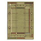 Shaw Timber Creek by Phillip Crowe Mission Leaf Rectangle Rugs in Sage