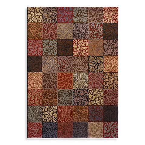 Shaw Inspired Collection Paisley Block 3-Foot 10-Inch x 5-Foot 6-Inch Rug