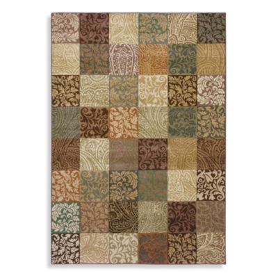 Shaw Inspired Design Collection Paisley Block Light Multi Rugs