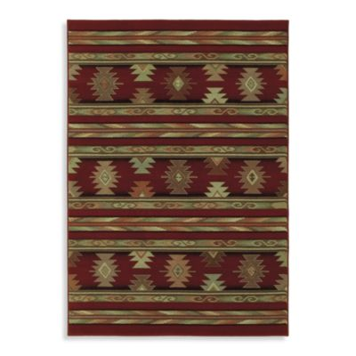Shaw Timber Creek by Phillip Crowe Pueblo Rectangle Rugs in Scarlet
