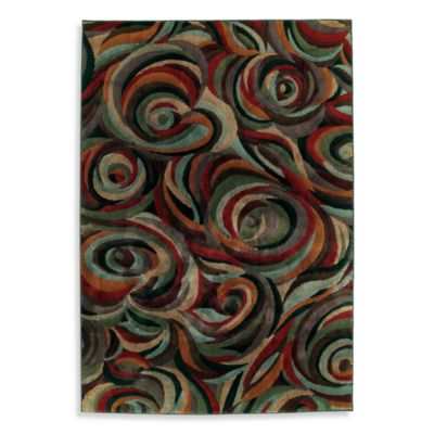 Shaw Impressions Collection Reverb Multicolor Rectangle Rugs