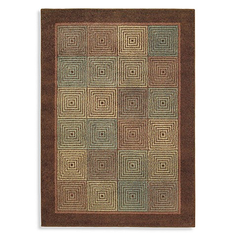 Shaw Origins Collection Rhythm Earthen 3-Foot 10-Inch x 5-Foot 6-Inch Rug