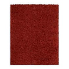 Shaw Ultra Shag Collection Cranberry Rectangle Rugs