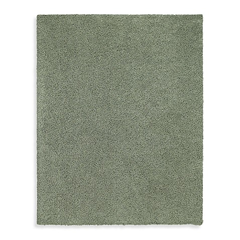 "Shaw Ultra Shag Collection Sea Grass 7' 6"" x 9' 6"" Rectangle Rug"