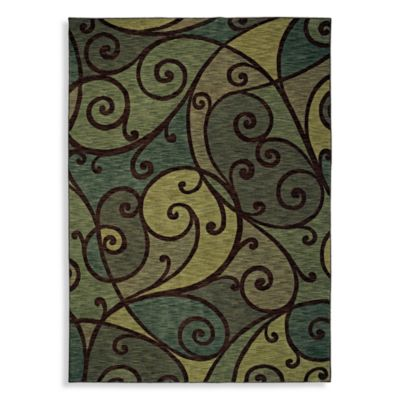 Shaw Modernworks Collection Spellbound Ocean Rectangle Rugs