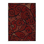 Shaw Modernworks Collection Spellbound Rectangle Rugs in Red