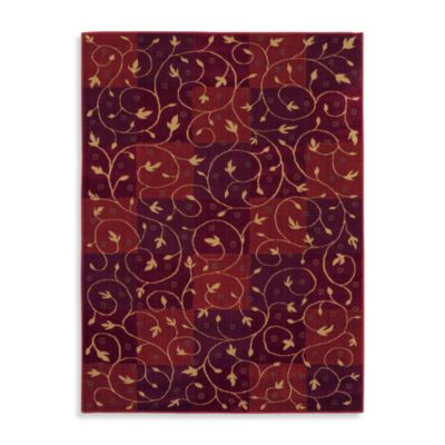 Shaw Reverie Collection Swirl Rugs in Brick