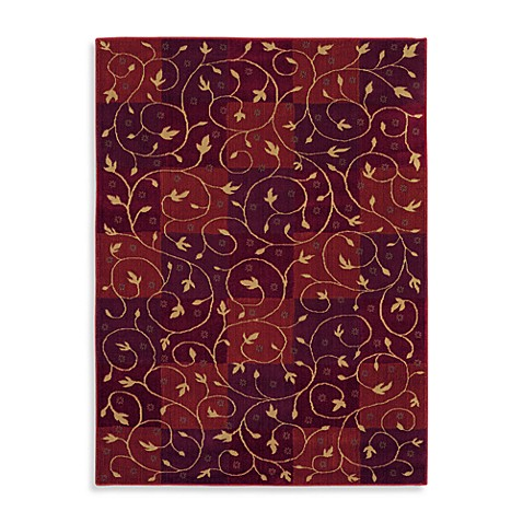 Shaw Reverie Collection Swirl 2-Foot 2-Inch x 7-Foot 8-Inch Runner in Brick