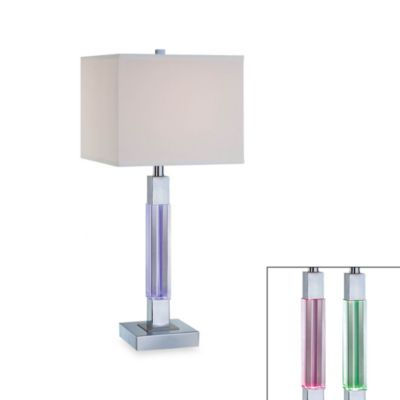 Lite Source Orion Table Lamp With Color-Changing LED Accent Light