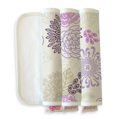 The Peanut Shell® Dahlia Burpeas Burp Cloth (Set of 3)