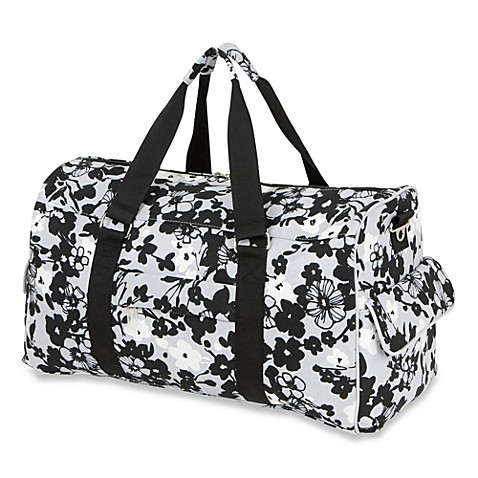 The Bumble Collection Jennifer Weekender Diaper Bag in Evening Bloom