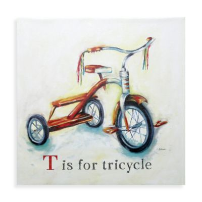 T is for Tricycle Wall Art