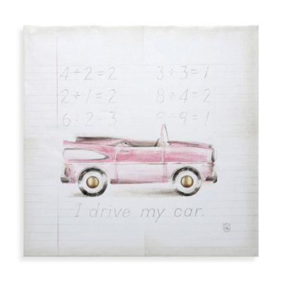 Vintage Car Wall Art in Pink